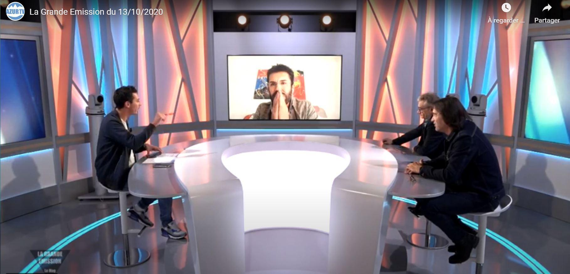 Stephane lecouturier en direct sur la grande emission tv azur