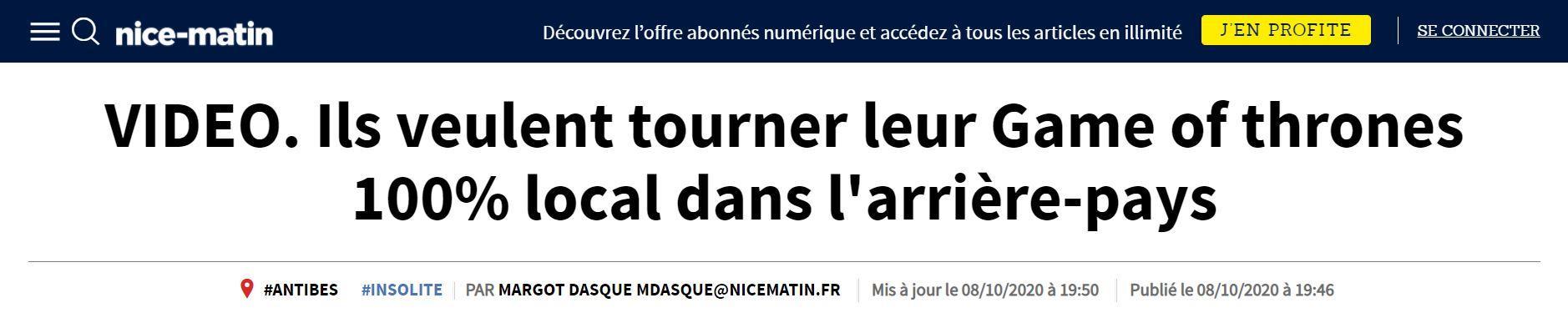 Tournage du games of thrones a la francaise the last incantation stephane lecouturier laurens coralie
